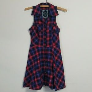 Plaid  Fit and Flare Guess Dress